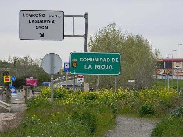 Camminando verso Logroño, capitale della Regione de