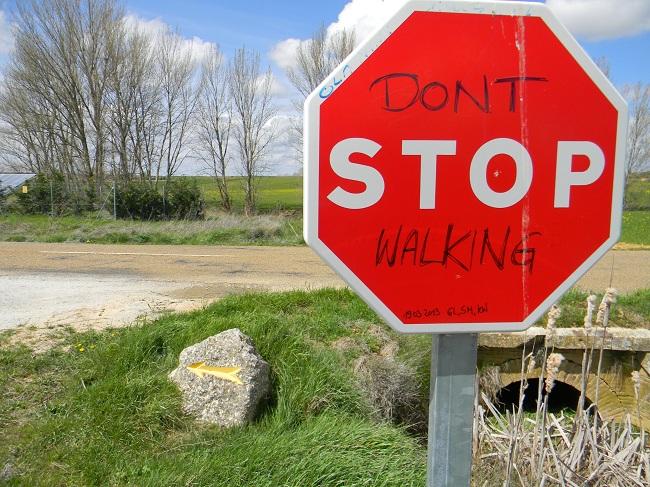 Non smettere di camminare, neanche quando arriverai a Santiago.