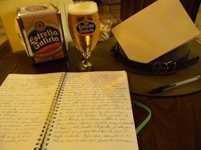 Il pomeriggio relativamente libero mi ha permesso di scrivere lettere e rilassarmi un attimo, dopo giorni brutti e faticosi.