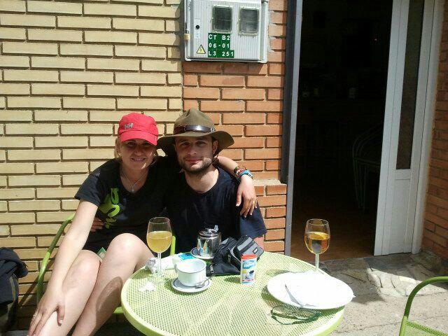 Io e Elena, a pranzo.