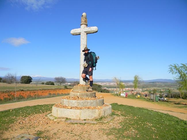 Piccolo punto panoramico prima di scendere in maniera abbastanza ripida verso Astorga.