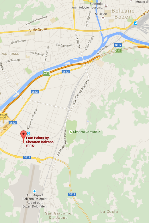 L'hotel, tra S. Giacomo e Bolzano.